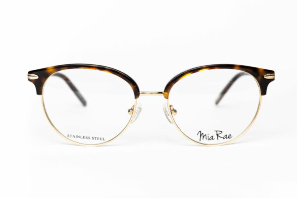 Combination frame with gold accents
