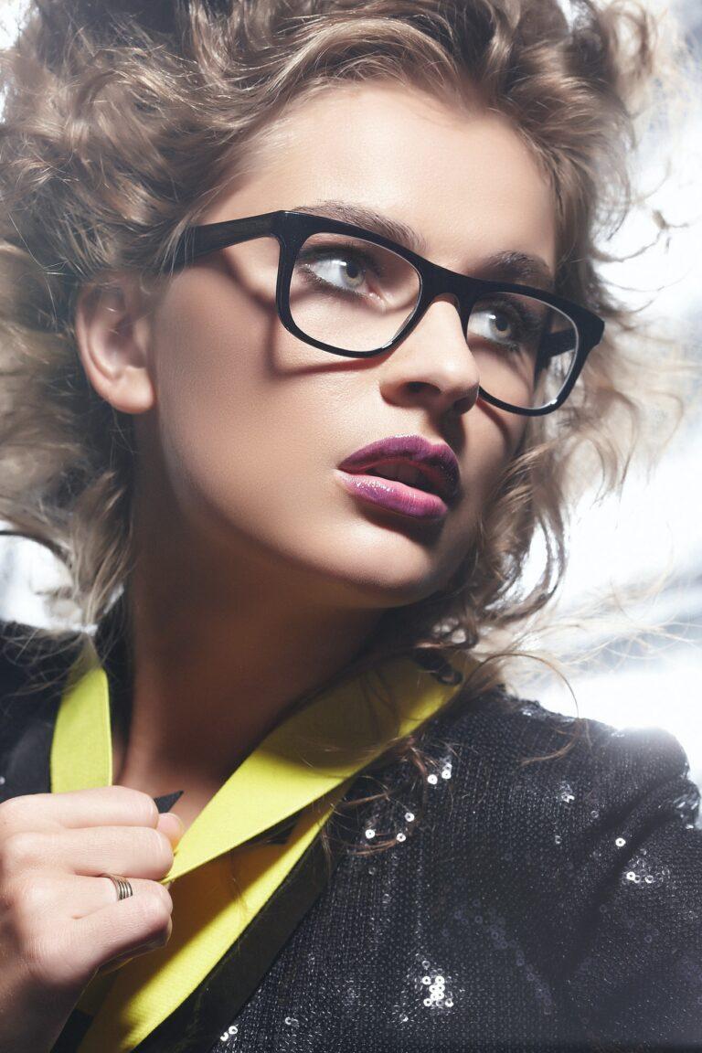 a woman in eyeglasses